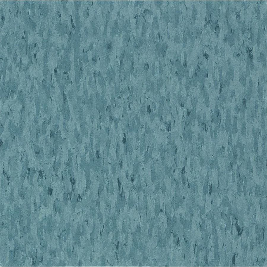 Armstrong Imperial Texture 45-Piece 12-in x 12-in Mid Grayed Blue Glue-Down Chip Commercial VCT Tile
