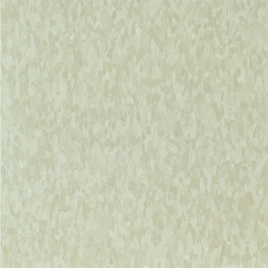 Armstrong Flooring Imperial Texture 45-Piece 12-in x 12-in Mint Cream Glue (Adhesive) Chip Commercial VCT Tile