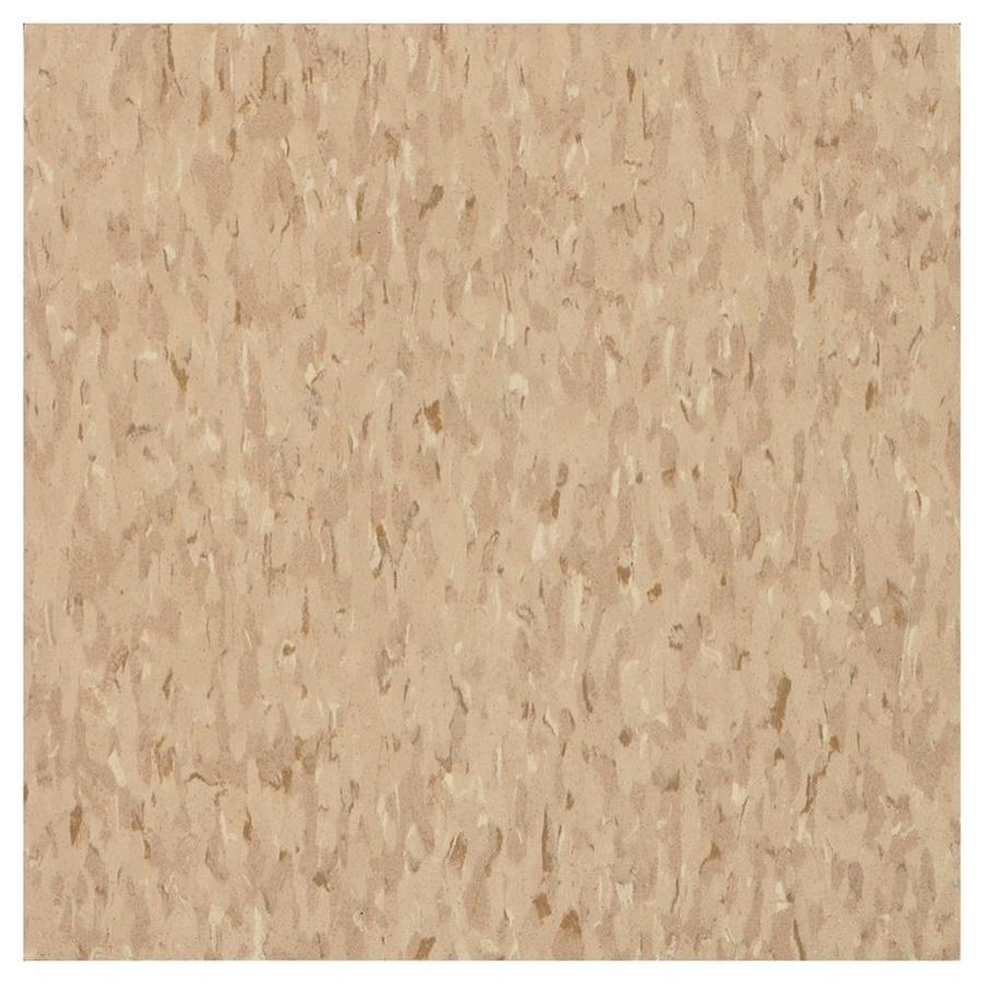 Armstrong Flooring Imperial Texture 45-Piece 12-in x 12-in Nougat Glue (Adhesive) Chip Commercial VCT Tile
