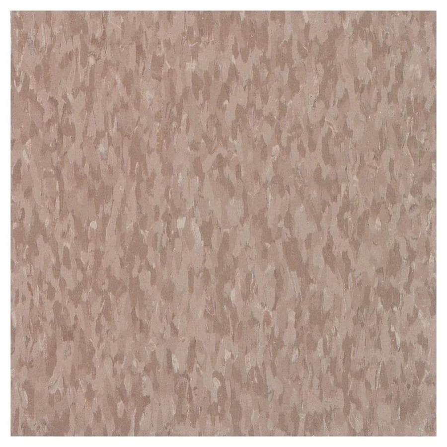 Armstrong Flooring Imperial Texture 45-Piece 12-in x 12-in Cafe Latte Glue-Down Chip Commercial VCT Tile