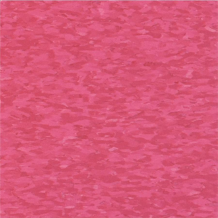 Armstrong Flooring Imperial Texture 45-Piece 12-in x 12-in Bubblegum Glue-Down Chip Commercial VCT Tile