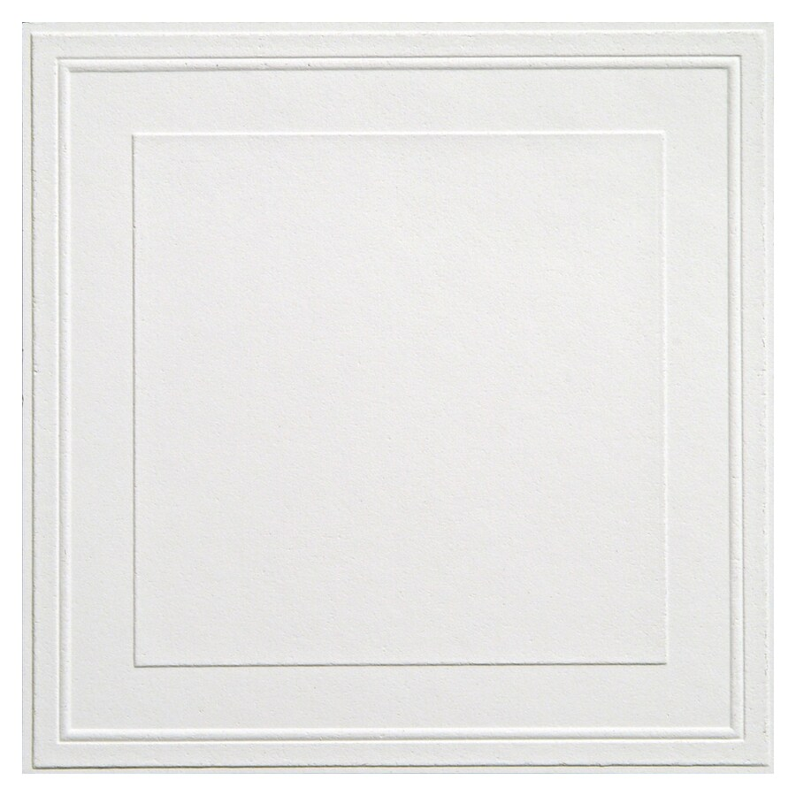 Shop Armstrong 12 X 12 Tin Look Raised Panel Ceiling Tile 40 At