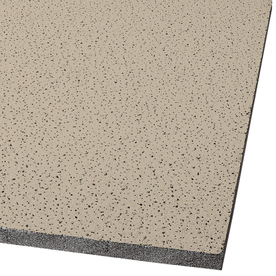 Armstrong Ceilings (Common: 24-in x 24-in; Actual: 23.719-in x 23.719-in) Fine Fissured 16-Pack Adobe Fissured 15/16-in Drop Acoustic Panel Ceiling Tiles