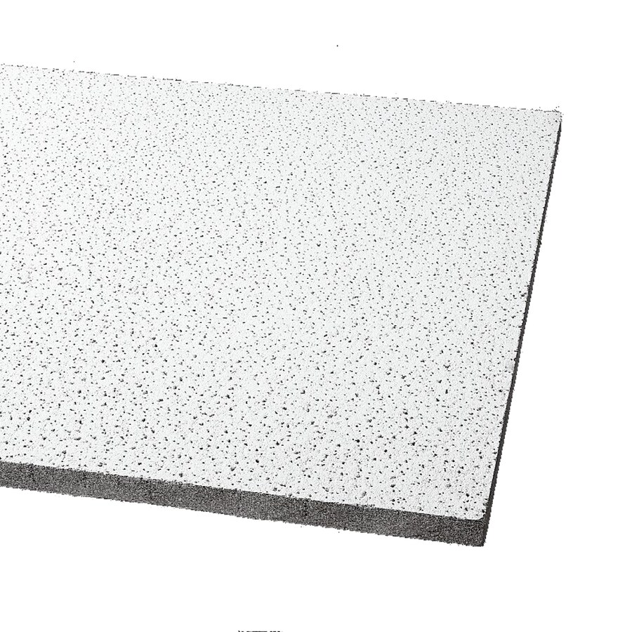 Armstrong Ceilings Fine Fissured 12-Pack Platinum Fissured 15/16-in Drop Acoustic Panel Ceiling Tiles (Common: 48-in x 24-in; Actual: 47.719-in x 23.719-in)