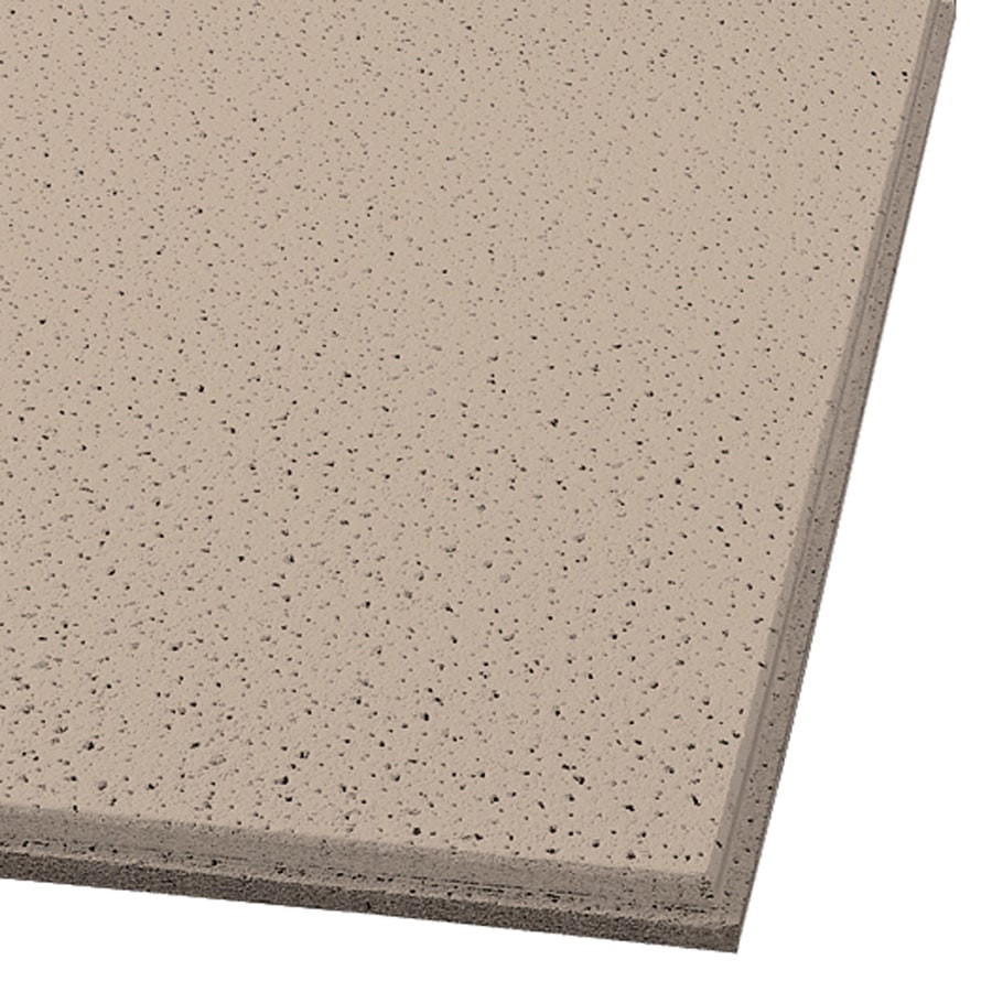 Armstrong Fine Fissured 16-Pack Adobe Fissured 15/16-in Drop Acoustic Panel Ceiling Tiles (Common: 24-in x 24-in; Actual: 23.704-in x 23.704-in)