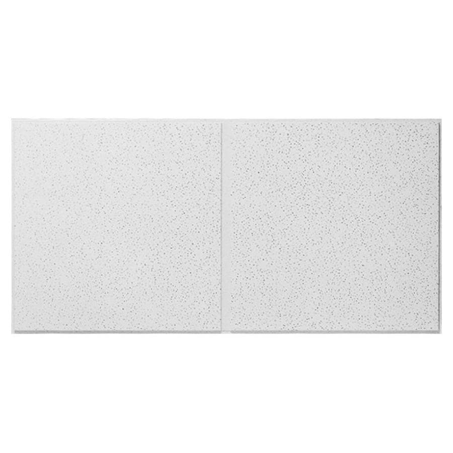Armstrong Fine Fissured Second Look 10-Pack White Fissured 9/16-in Drop Acoustic Panel Ceiling Tiles (Common: 48-in x 24-in; Actual: 47.745-in x 23.745-in)