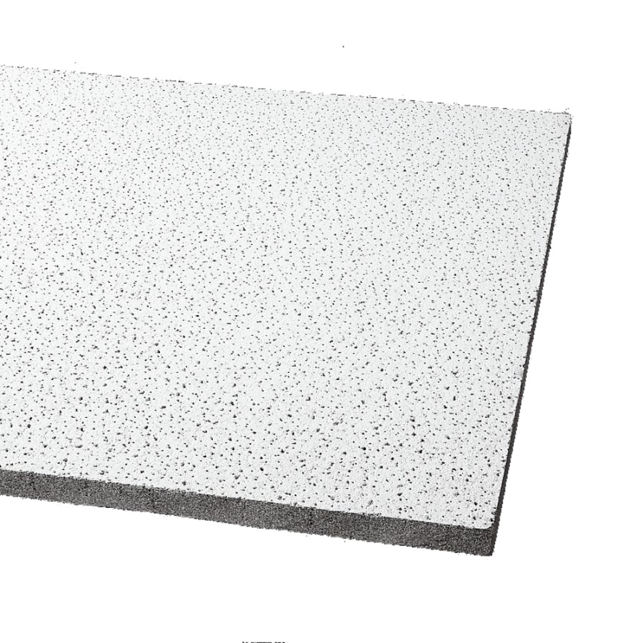 Armstrong Fine Fissured 12-Pack White Fissured 15/16-in Drop Acoustic Panel Ceiling Tiles (Common: 24-in x 24-in; Actual: 23.813-in x 23.813-in)