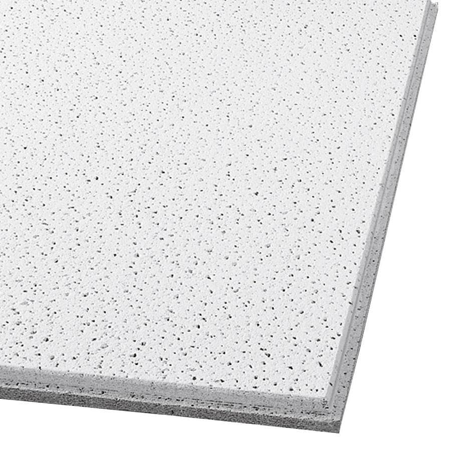 Armstrong Fine Fissured 12-Pack White Fissured 15/16-in Drop Acoustic Panel Ceiling Tiles (Common: 24-in x 24-in; Actual: 23.781-in x 23.781-in)