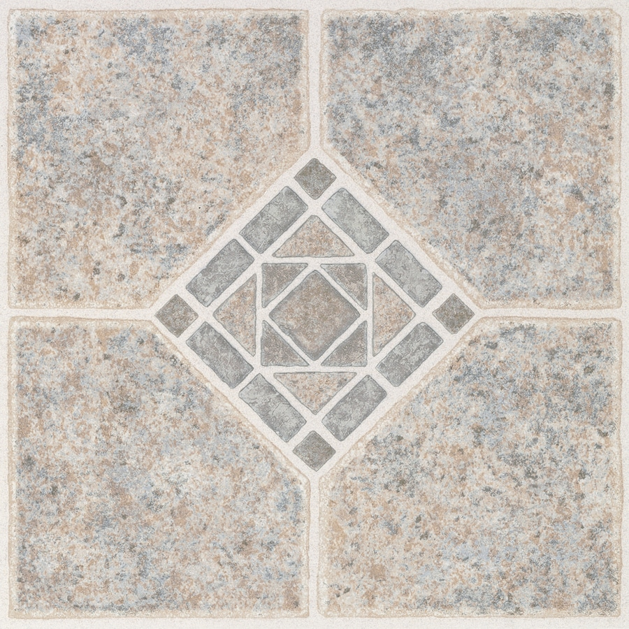 Shop style selections 1 piece 12 in x 12 in basil peel and for Floor vinyl tiles