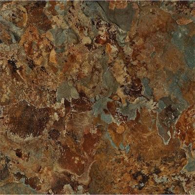 Terraza 12 In X 12 In Padera Patina Shale Peel And Stick Granite Vinyl Tile