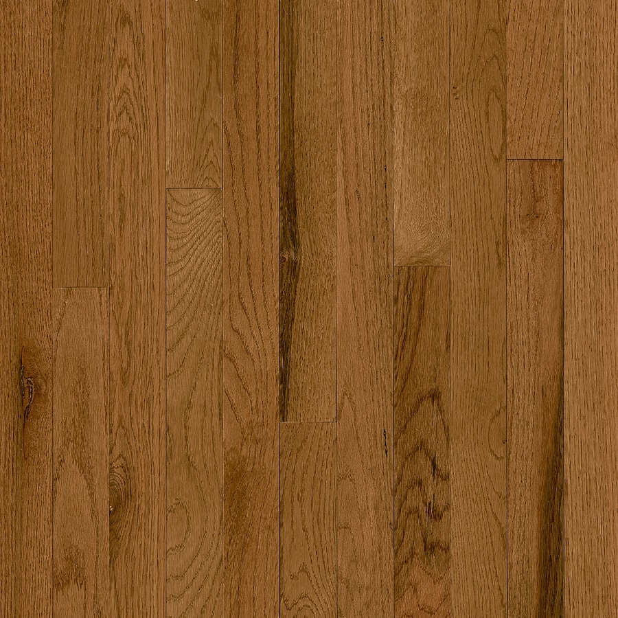 Shop bruce addison spice oak solid hardwood for Real oak hardwood flooring