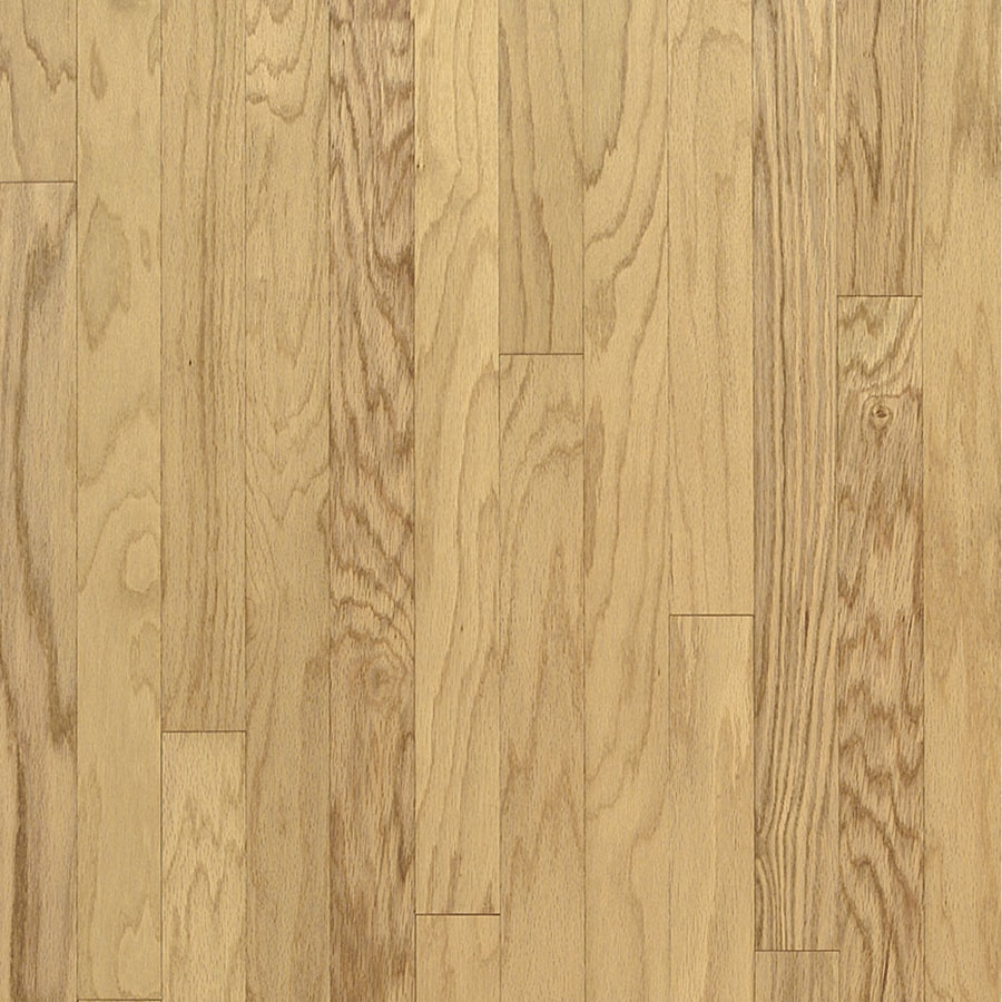 Shop bruce oak hardwood flooring sample natural at for Wood flooring natural