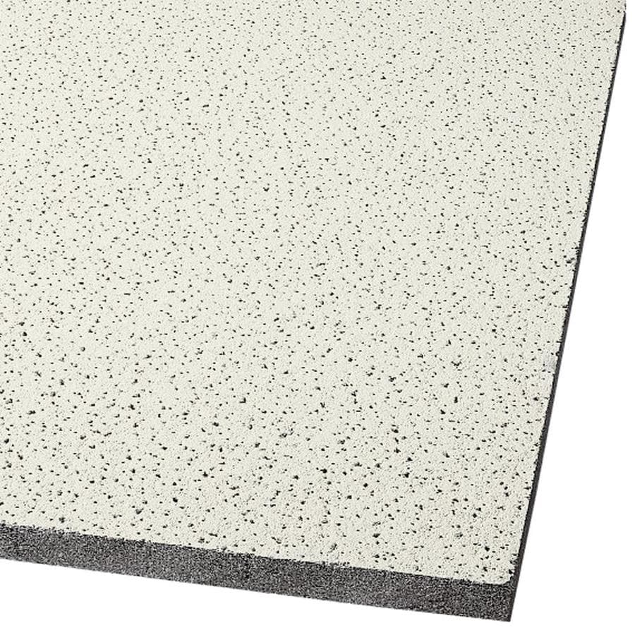Armstrong Fine Fissured 16-Pack Cream Fissured 15/16-in Drop Acoustic Panel Ceiling Tiles (Common: 24-in x 24-in; Actual: 23.719-in x 23.719-in)