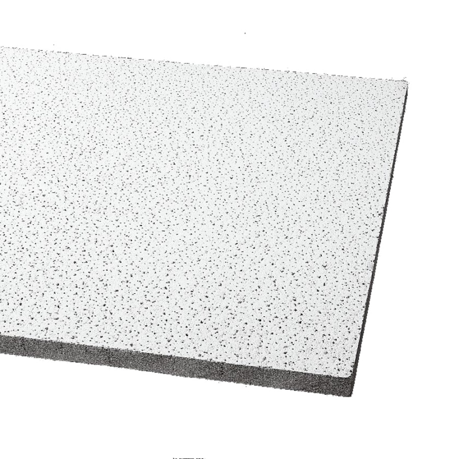 Armstrong Fine Fissured 16-Pack Platinum Fissured 15/16-in Drop Acoustic Panel Ceiling Tiles (Common: 24-in x 24-in; Actual: 23.719-in x 23.719-in)