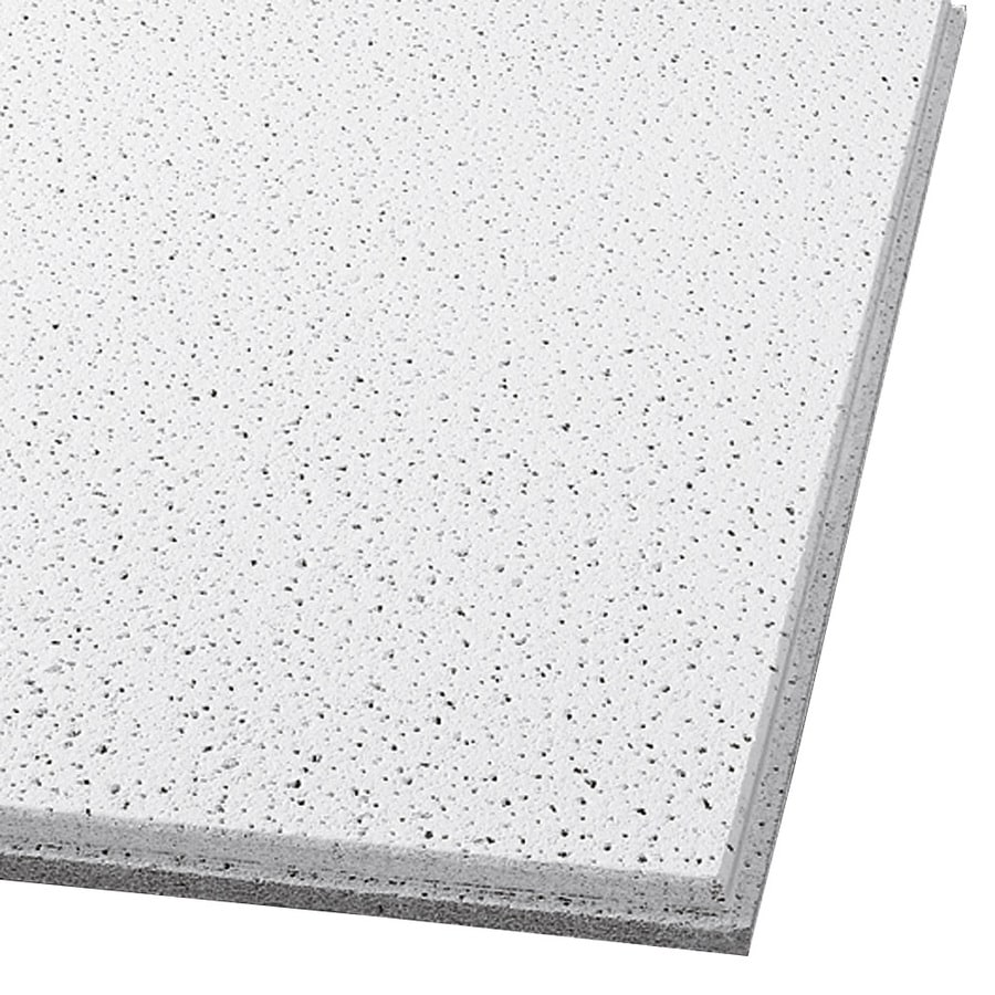 Armstrong Ceilings (Common: 24-in x 24-in; Actual: 23.745-in x 23.745-in) Fine Fissured 16-Pack White Fissured 9/16-in Drop Acoustic Panel Ceiling Tiles