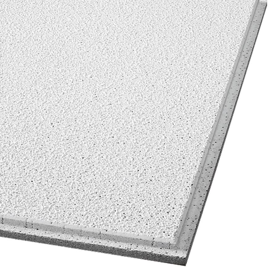 Armstrong Georgian 16-Pack White Textured 9/16-in Drop Acoustic Panel Ceiling Tiles (Common: 24-in x 24-in; Actual: 23.745-in x 23.745-in)