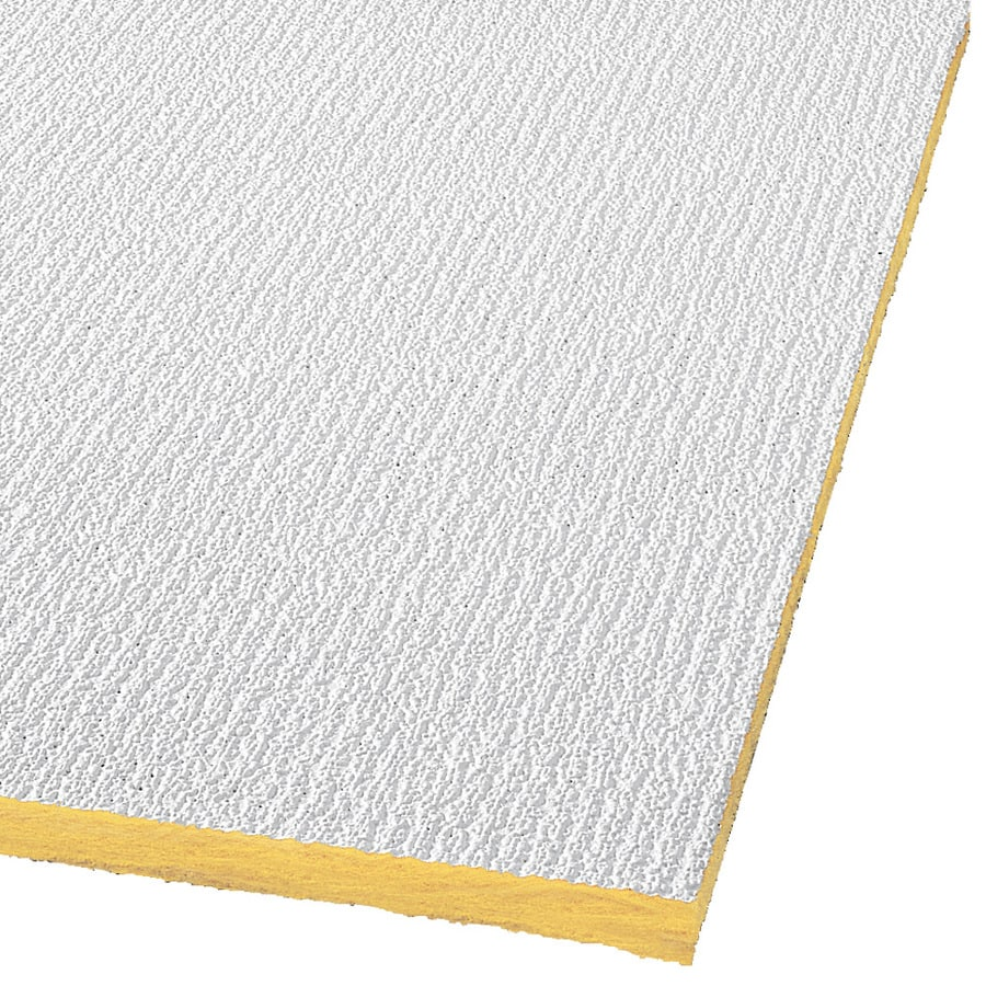 Armstrong Ceilings Shasta 32-Pack White Textured 15/16-in Drop Acoustic Panel Ceiling Tiles (Common: 24-in x 24-in; Actual: 23.719-in x 23.719-in)