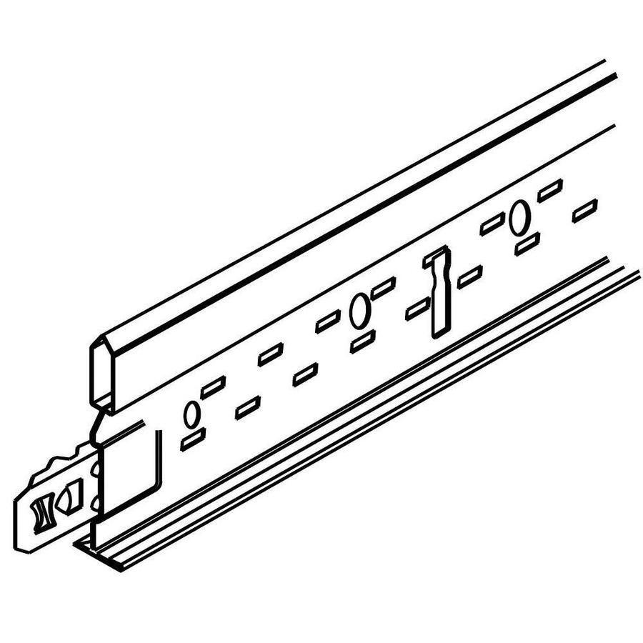 Armstrong Ceilings Suprafine XL Black 60-Pack 47.44-in Galvanized Steel Ceiling Grid Cross Tee