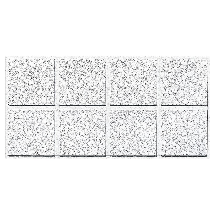 Shop Armstrong Cortega 10-Pack White Fissured 15/16-in Drop Acoustic Panel Ceiling Tiles (Common ...