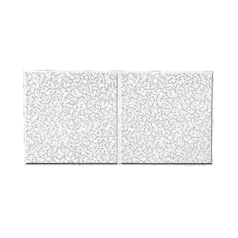 Armstrong Ceilings (Common: 48-in x 24-in; Actual: 47.745-in x 23.745-in) Cortega 10-Pack White Patterned 9/16-in Drop Acoustic Panel Ceiling Tiles