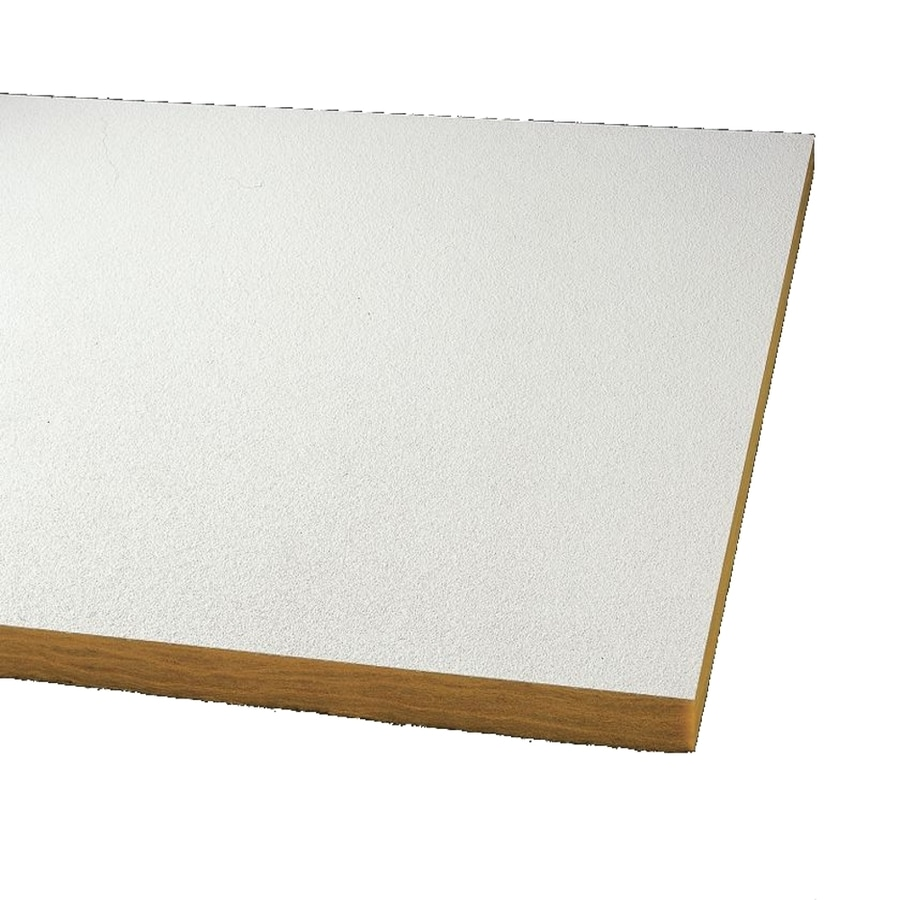 Armstrong Ceilings (Common: 24-in x 24-in; Actual: 23.719-in x 23.719-in) Optima 32-Pack White Textured 15/16-in Drop Acoustic Panel Ceiling Tiles