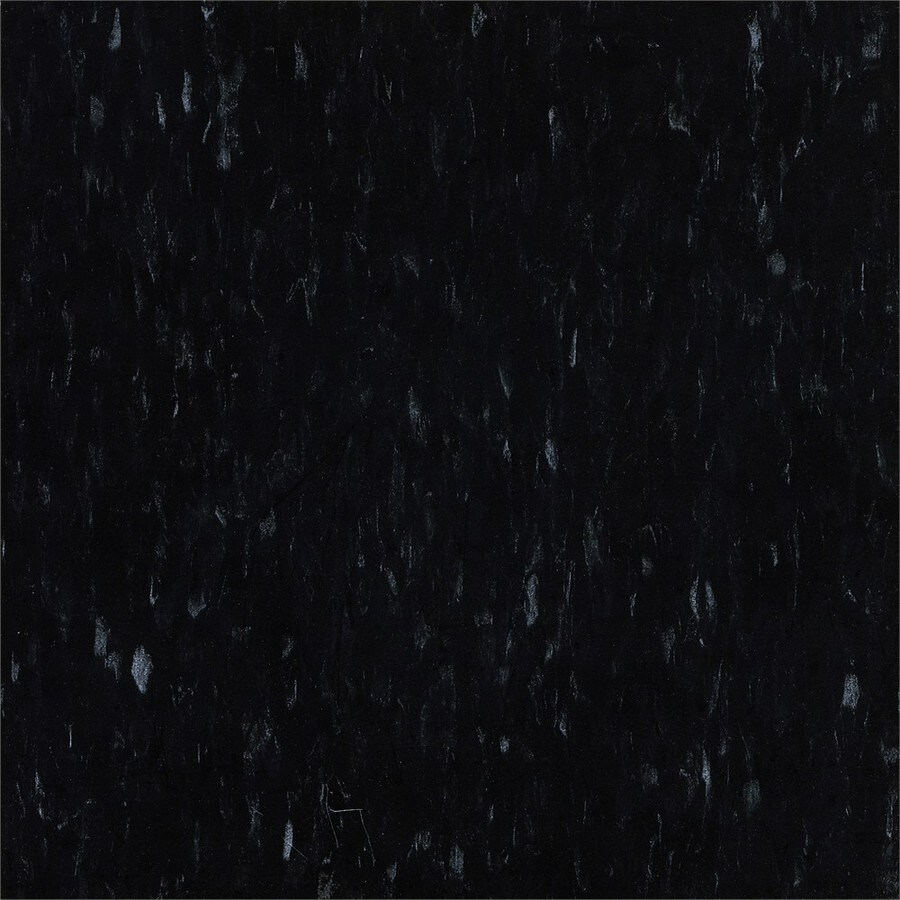 Armstrong Flooring Migrations 45-Piece 12-in X 12-in Basalt Black Glue (Adhesive) Speckle Commercial VCT Tile