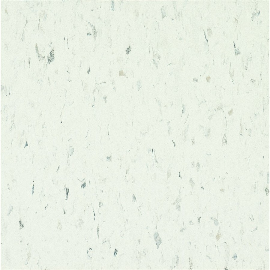 Armstrong Flooring Migrations 45-Piece 12-in X 12-in Ice White Glue (Adhesive) Speckle Commercial VCT Tile