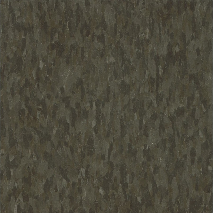 Armstrong Flooring Migrations 45-Piece 12-in X 12-in Bark Brown Glue (Adhesive) Speckle Commercial VCT Tile
