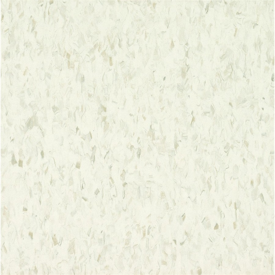 Armstrong Flooring Migrations 45-Piece 12-in X 12-in Quartz White Glue (Adhesive) Speckle Commercial VCT Tile