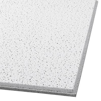 Common 24 In X Actual 23 704 Fine Fissured Contractor 16 Pack White 15 Drop Acoustic Panel Ceiling Tiles