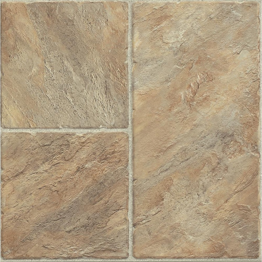 Armstrong Stones and Ceramics 15.94-in W x 3.98-ft L Castilian Block Puesta Del Sol Embossed Laminate Tile and Stone Planks