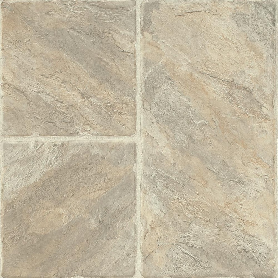 Armstrong Stones and Ceramics 15.94-in W x 3.98-ft L Castilian Block Rambla Embossed Laminate Tile and Stone Planks