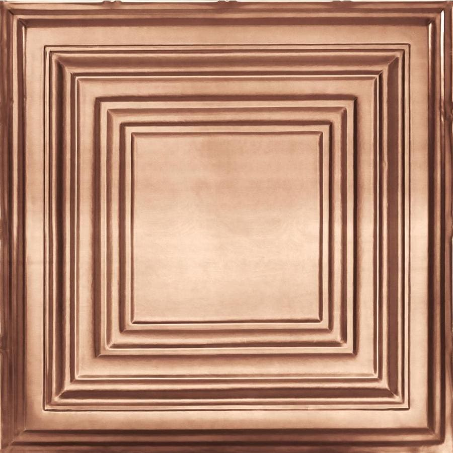 Armstrong Ceilings (Common: 24-in x 24-in; Actual: 23.75-in x 23.75-in) Metallaire Large Panel Copper Patterned 15/16-in Drop Panel Ceiling Tiles