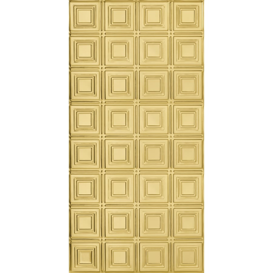 Armstrong Ceilings (Common: 48-in X 24-in; Actual: 48.5-in x 24.5-in) Metallaire Small Panels Brass Metal Surface-mount Panel Ceiling Tiles