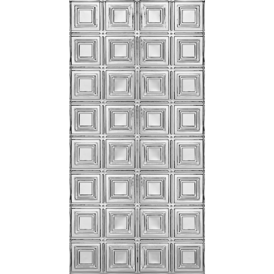 Armstrong Ceilings (Common: 48-in x 24-in; Actual: 48.5-in x 24.5-in) Metallaire Small Panels Chrome Patterned Surface-Mount Panel Ceiling Tiles