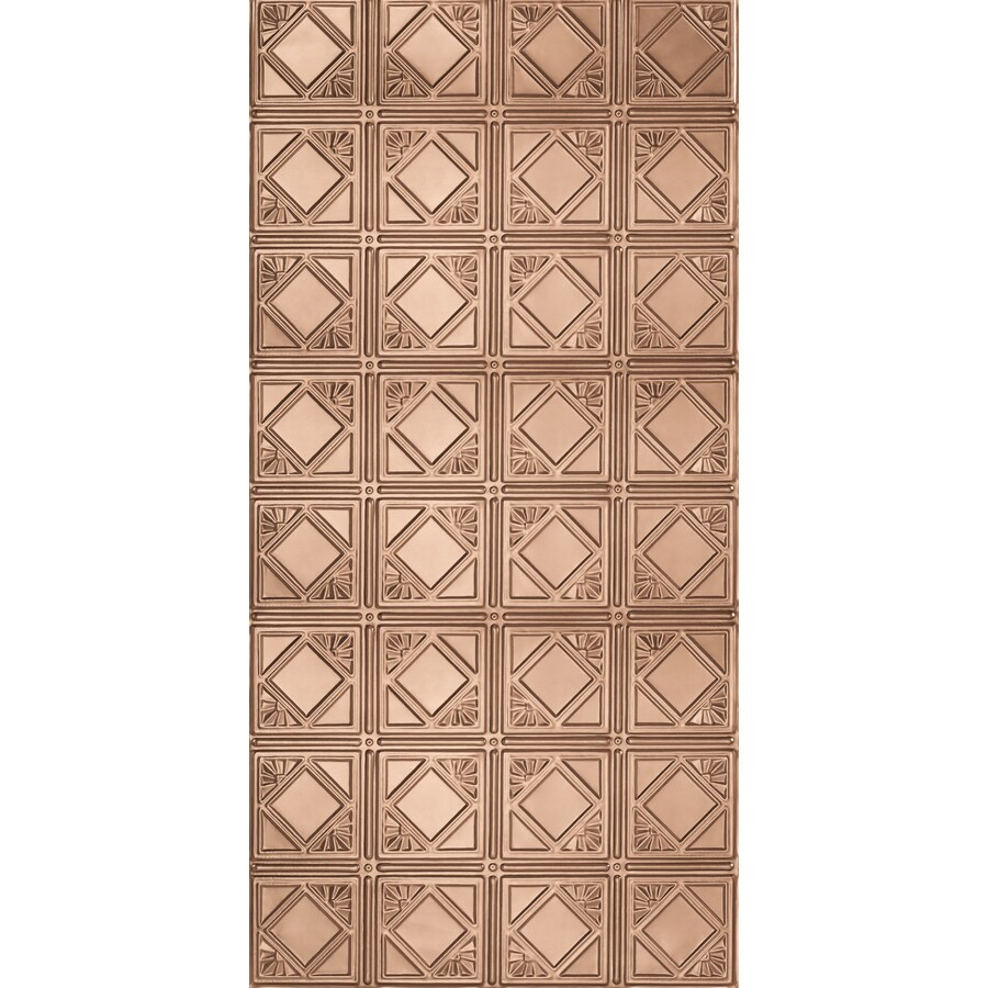 Armstrong Ceilings Metallaire Fans Copper Patterned Surface-Mount Panel Ceiling Tiles (Common: 48-in x 24-in; Actual: 48.5-in x 24.5-in)