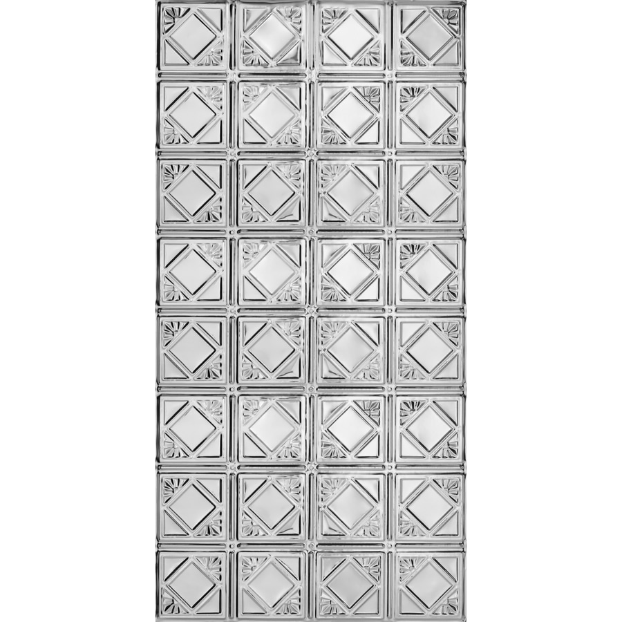 Armstrong Ceilings (Common: 48-in x 24-in; Actual: 48.5-in x 24.5-in) Metallaire Fans Chrome Patterned Surface-Mount Panel Ceiling Tiles