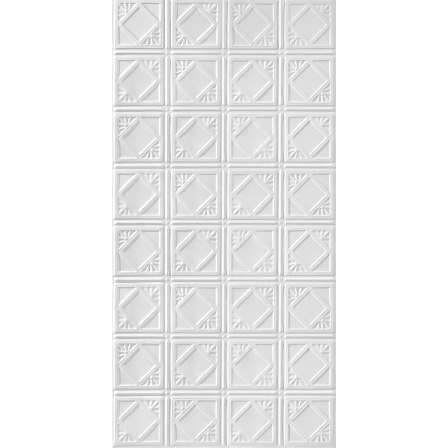Armstrong Metallaire White Patterned Surface-Mount Panel Ceiling Tiles (Common: 48-in x 24-in; Actual: 48.5-in x 24.5-in)