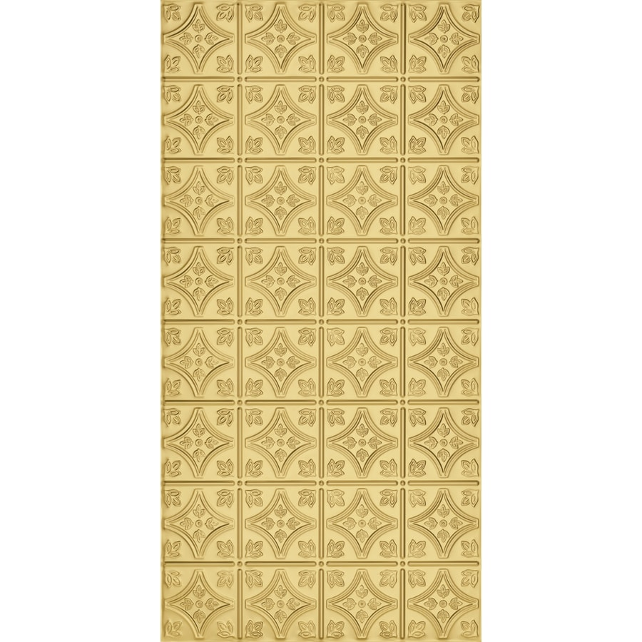 Armstrong Ceilings (Common: 48-in x 24-in; Actual: 48.5-in x 24.5-in) Metallaire Small Floral Circle Brass Patterned Surface-Mount Panel Ceiling Tiles