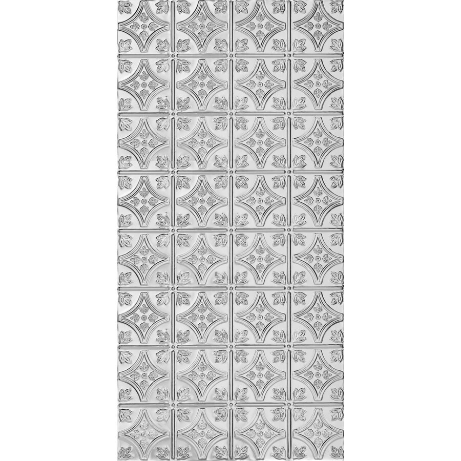Armstrong Ceilings Metallaire Chrome Patterned Surface-Mount Panel Ceiling Tiles (Common: 48-in x 24-in; Actual: 48.5-in x 24.5-in)