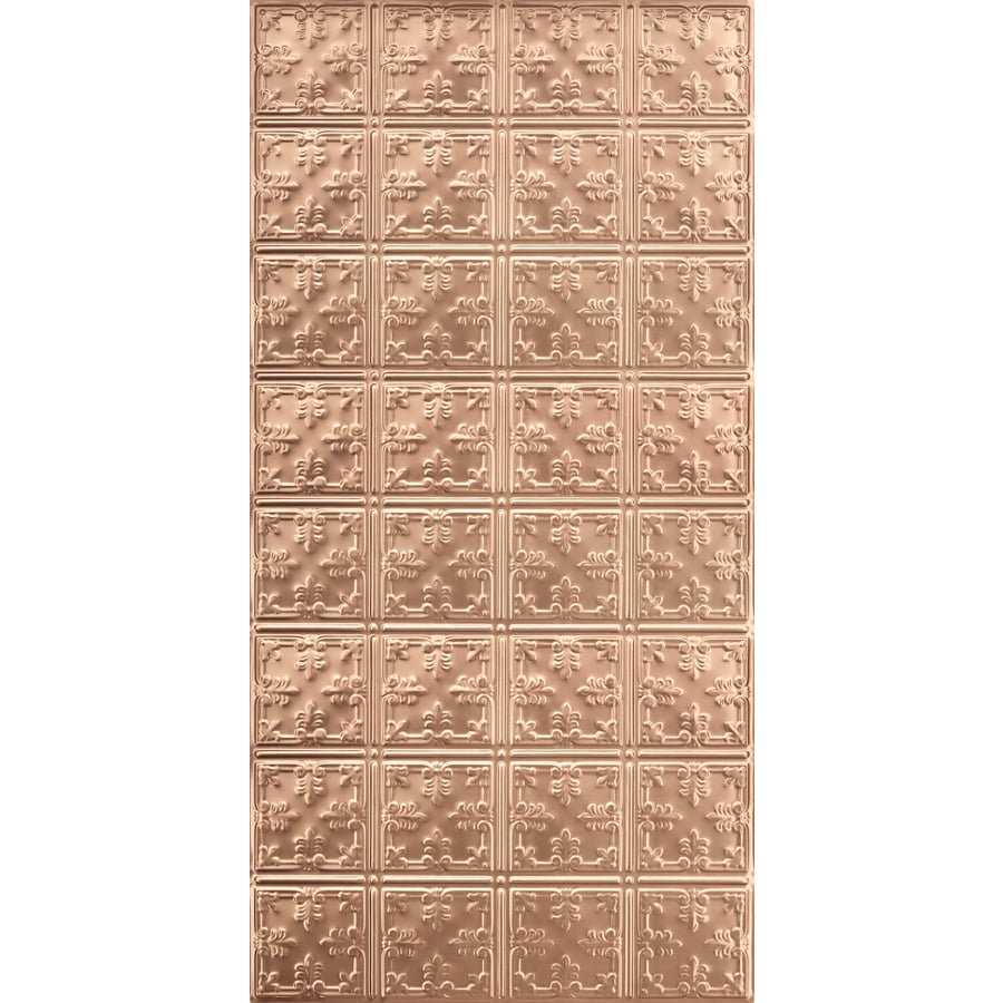 Armstrong Ceilings (Common: 48-in X 24-in; Actual: 48.5-in x 24.5-in) Metallaire Vine Copper Metal Surface-mount Panel Ceiling Tiles