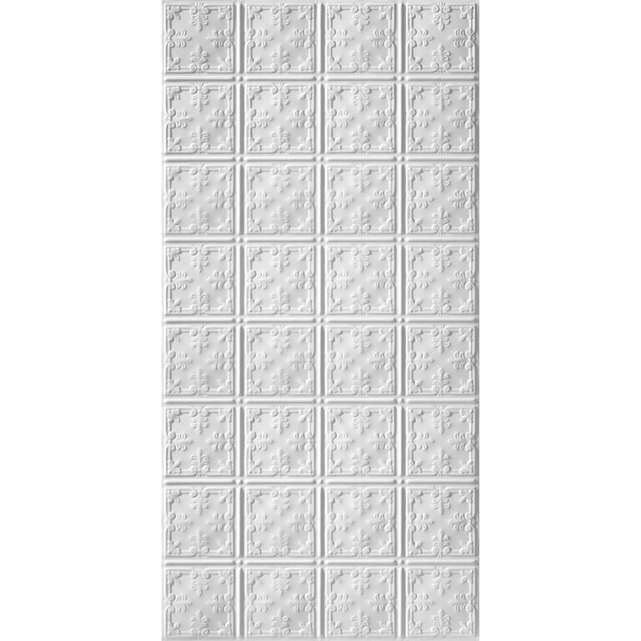 Armstrong Ceilings (Common: 48-in X 24-in; Actual: 48.5-in x 24.5-in) Metallaire Vine White Metal Surface-mount Panel Ceiling Tiles