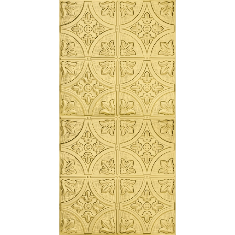 Armstrong Ceilings (Common: 48-in X 24-in; Actual: 48.5-in x 24.5-in) Metallaire Large Floral Circle Brass Metal Surface-mount Panel Ceiling Tiles