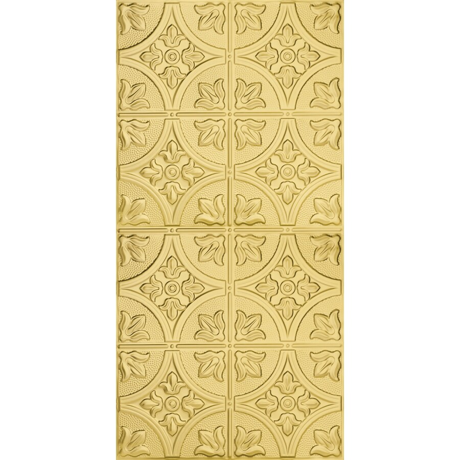 Armstrong Ceilings (Common: 48-in x 24-in; Actual: 48.5-in x 24.5-in) Metallaire Large Floral Circle Brass Patterned Surface-Mount Panel Ceiling Tiles