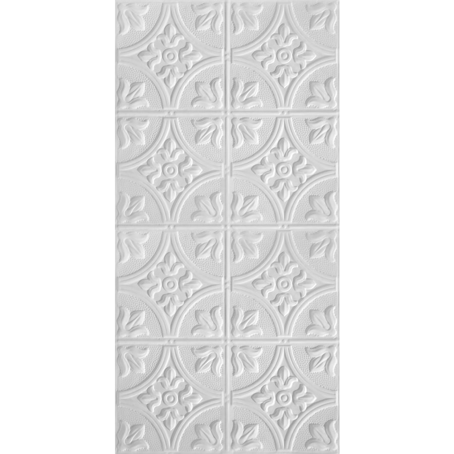 Armstrong Ceilings Metallaire White Patterned Surface-Mount Panel Ceiling Tiles (Common: 48-in x 24-in; Actual: 48.5-in x 24.5-in)