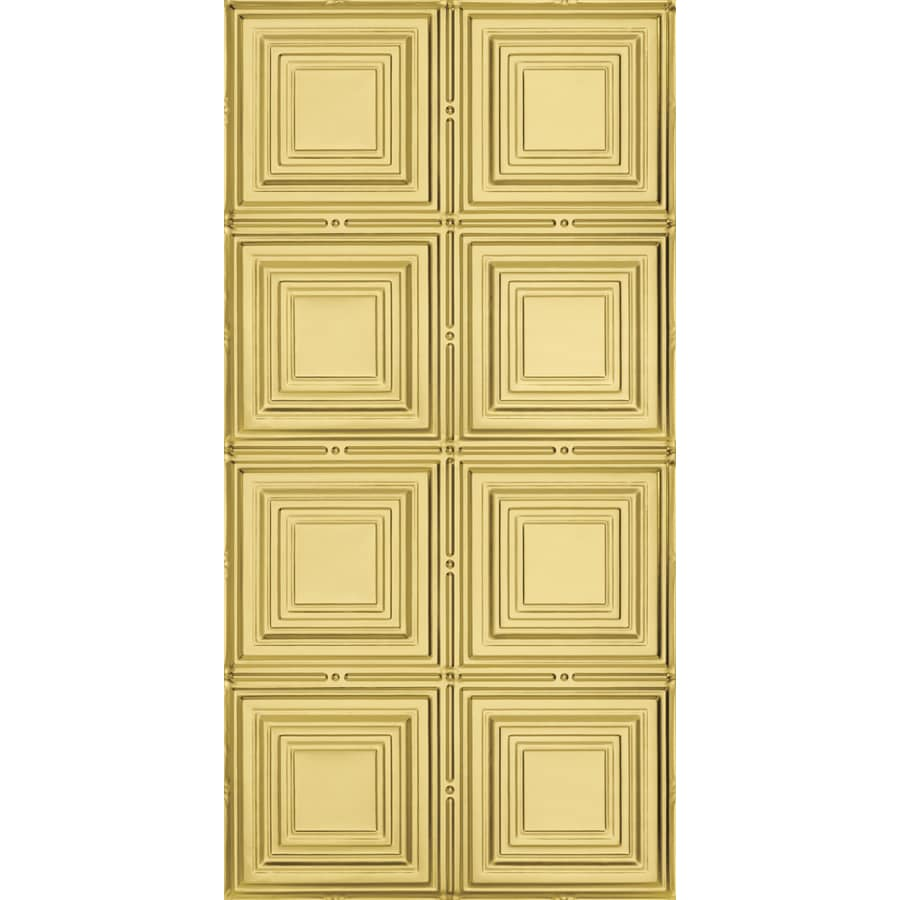 Armstrong Ceilings (Common: 48-in x 24-in; Actual: 48.5-in x 24.5-in) Metallaire Medium Panels Brass Patterned Surface-Mount Panel Ceiling Tiles