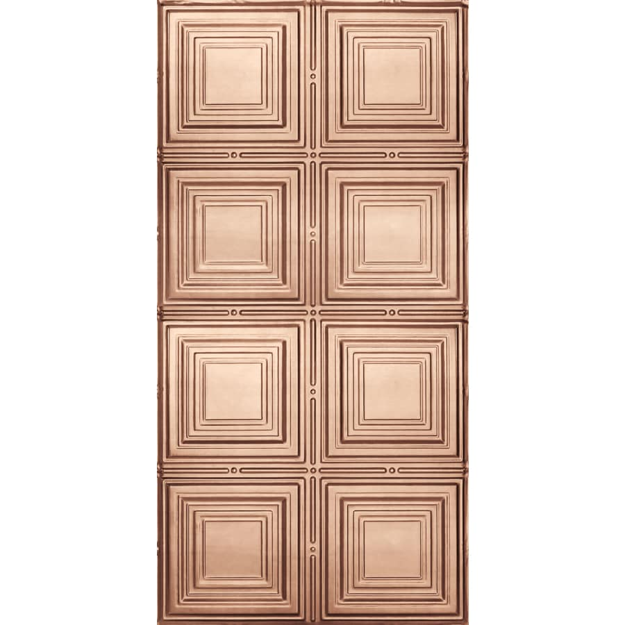Armstrong Ceilings Metallaire Copper Patterned Surface-Mount Panel Ceiling Tiles (Common: 48-in x 24-in; Actual: 48.5-in x 24.5-in)