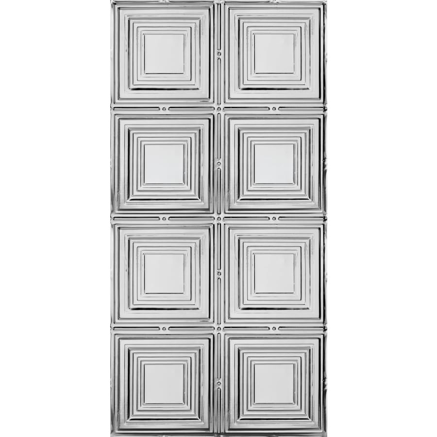 Armstrong Ceilings Metallaire Medium Panels Chrome Patterned Surface-Mount Panel Ceiling Tiles (Common: 48-in x 24-in; Actual: 48.5-in x 24.5-in)