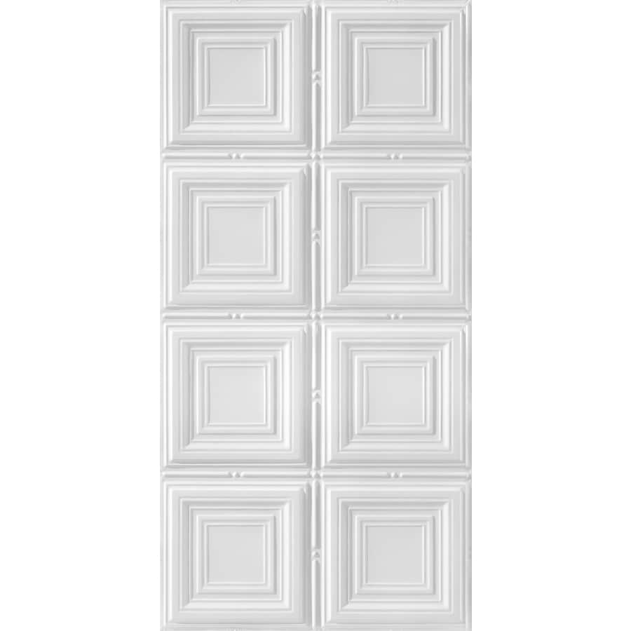 Armstrong Ceilings (Common: 48-in x 24-in; Actual: 48.5-in x 24.5-in) Metallaire Medium Panels White Patterned Surface-Mount Panel Ceiling Tiles