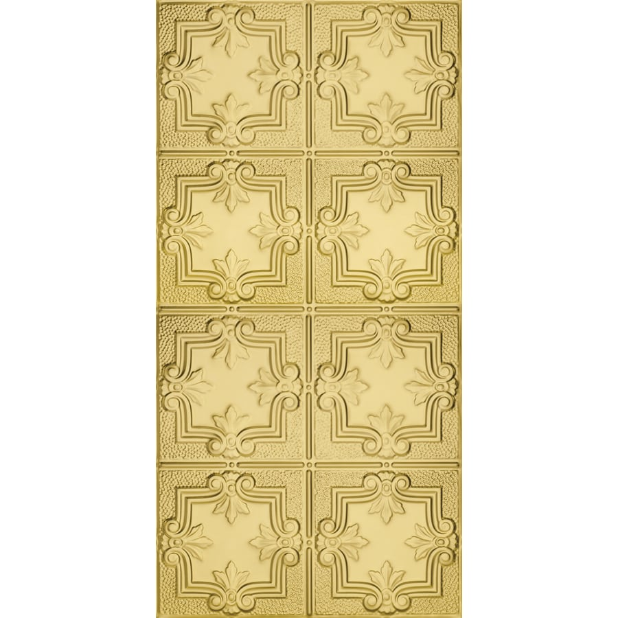 Armstrong Ceilings (Common: 48-in X 24-in; Actual: 48.5-in x 24.5-in) Metallaire Hammered Trefoil Brass Metal Surface-mount Panel Ceiling Tiles